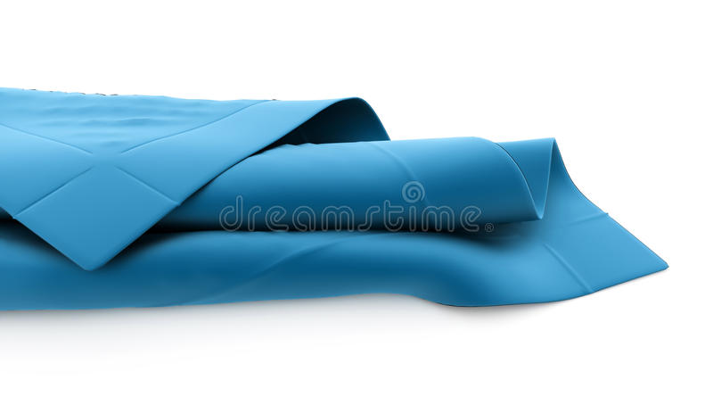 Abstract cloth rendered vector illustration