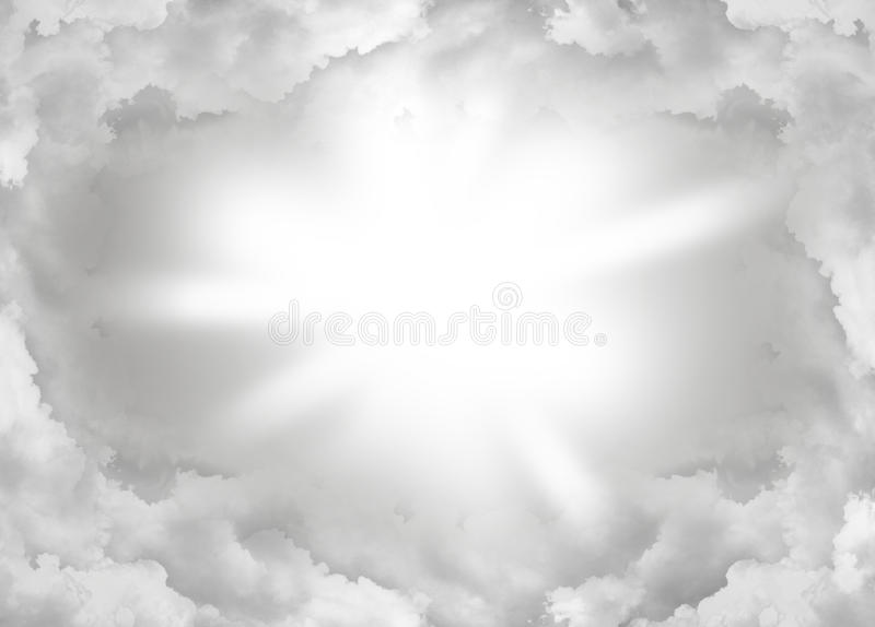 Abstract cloud. Heaven sunshine light royalty free stock photography