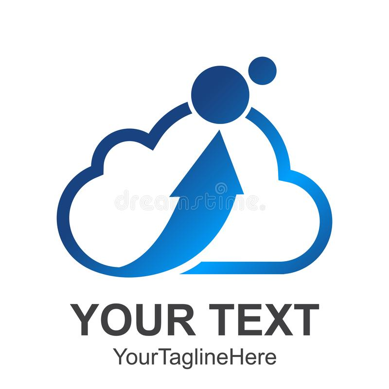 abstract cloud Letter logo design template elements. Simple abstract logo. Business corporate cloud logo design vector. stock illustration
