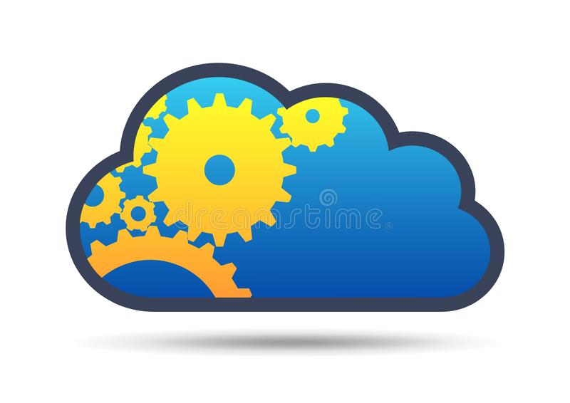 Abstract cloud technology in the future background, vector illustration vector illustration