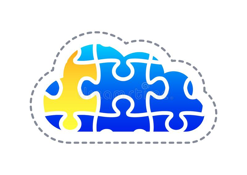 Abstract cloud technology in the future background, vector illustration stock illustration