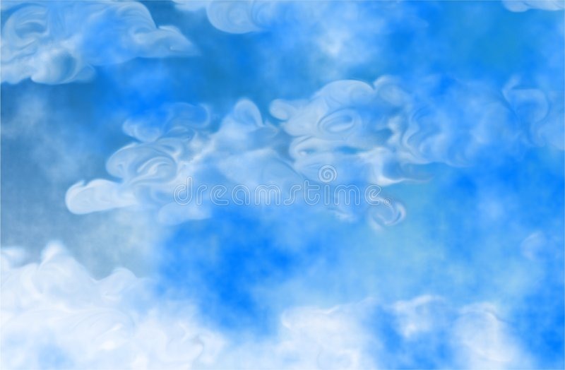 Abstract clouds stock illustration