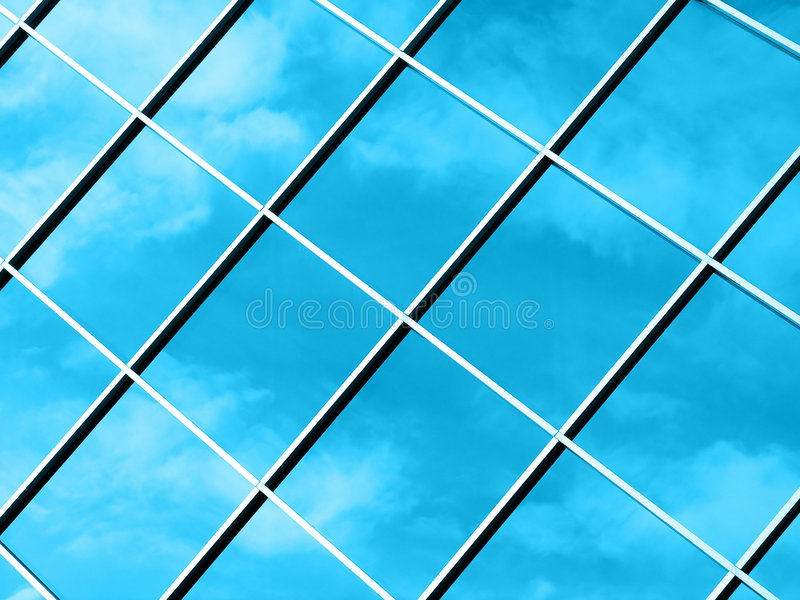 Abstract Clouds - Blue stock image