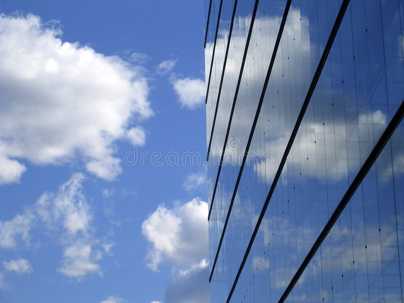 Abstract of clouds and building royalty free stock images