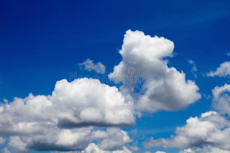 Clouds Form Phenomena. Abstract Clouds Form In The Air Of Natural Phenomena stock image
