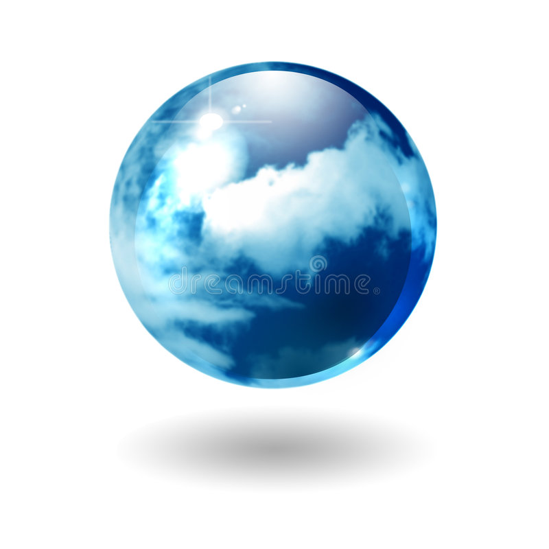 Abstract cloudy sphere.
