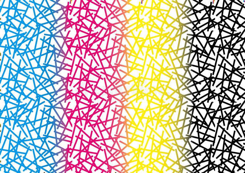 Abstract CMYK Pattern Background Textures royalty free illustration