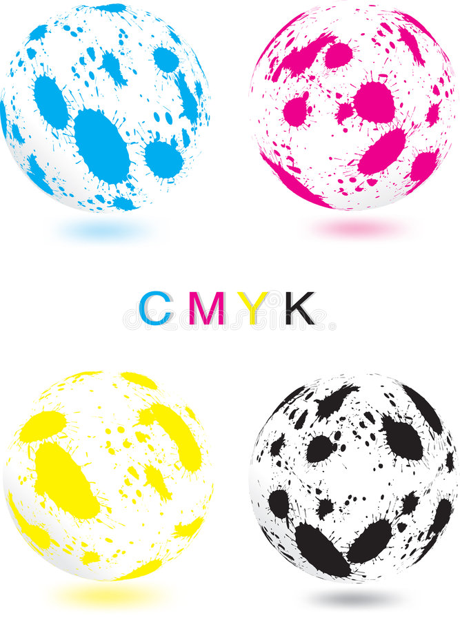 Download Abstract CMYK sphere stock vector. Image of grunge, design - 8768005