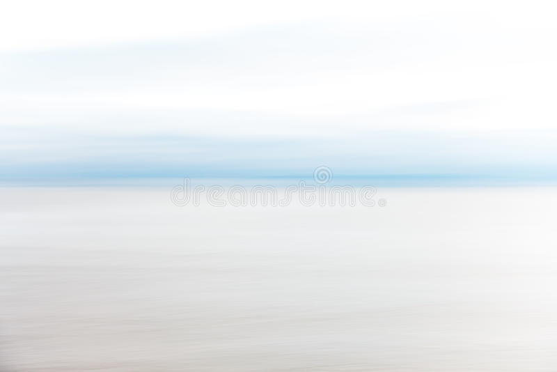 Abstract Coastal motion blur sky and sea royalty free stock photography