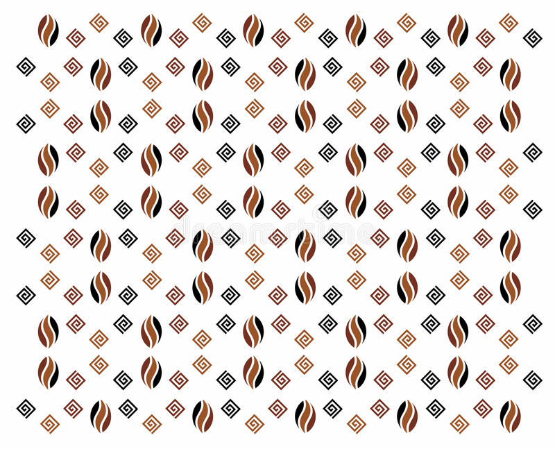 Download Coffee pattern stock vector. Image of snails, illustration - 30118507