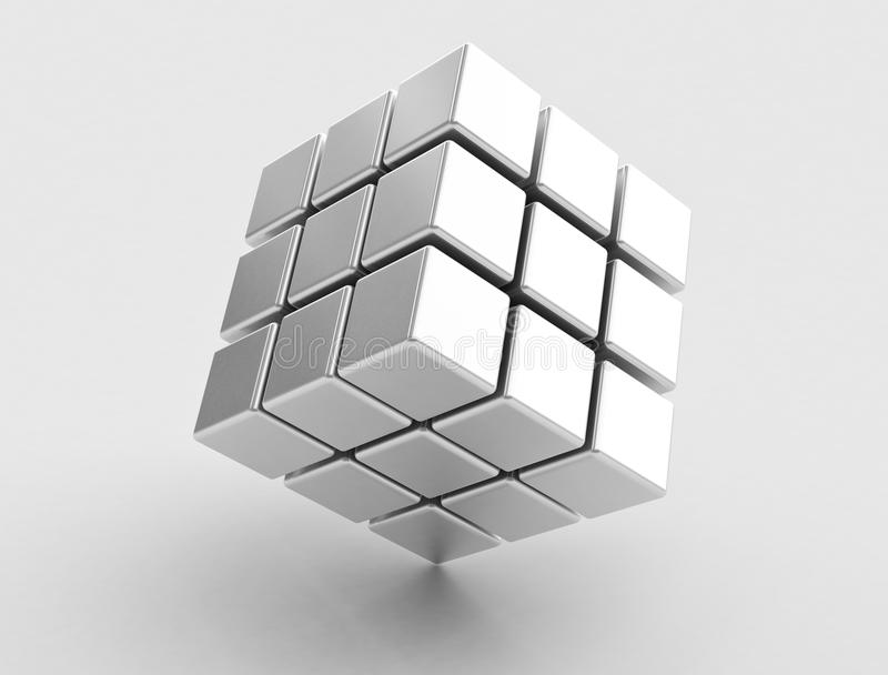 Abstract collection of cubes royalty free stock photography