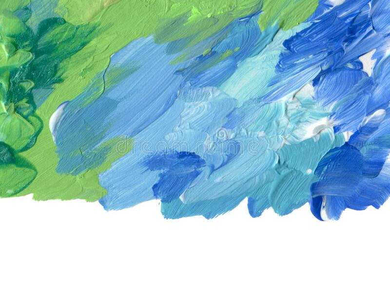 Abstract color acrylic brush strokes paint royalty free stock image