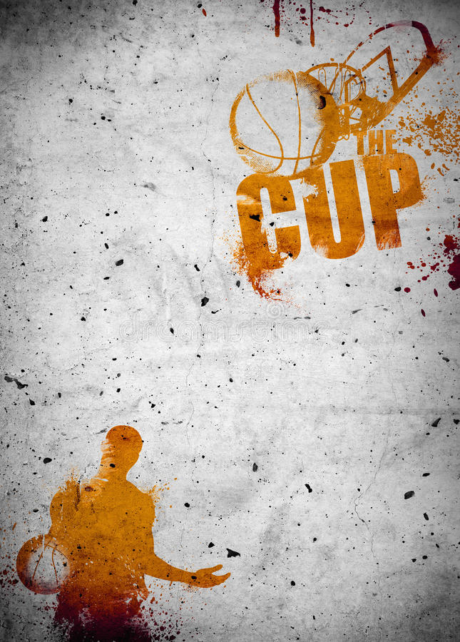 Basketball and streetball poster or flyer background stock illustration