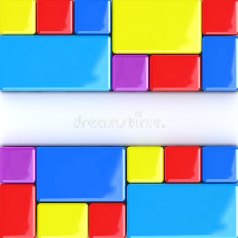 Abstract color boxes background royalty free illustration