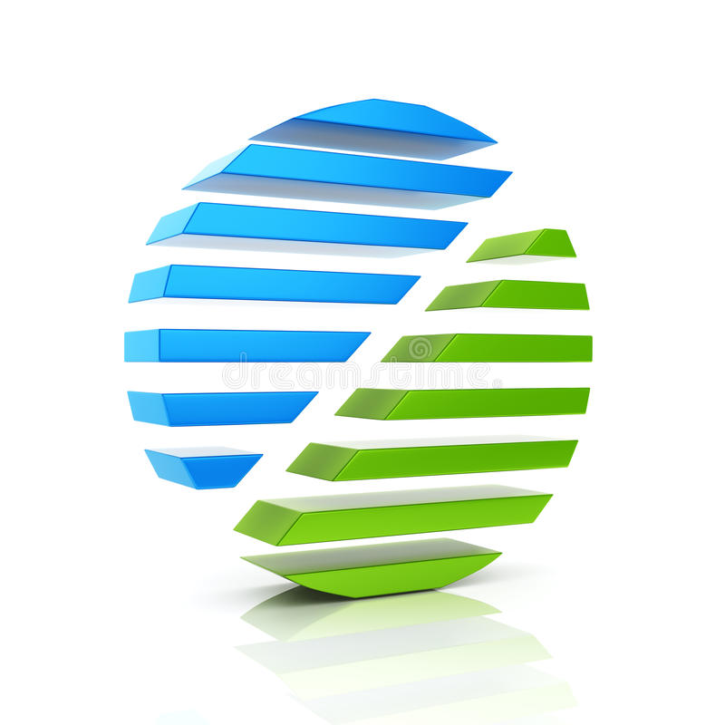 Abstract color business symbol stock illustration