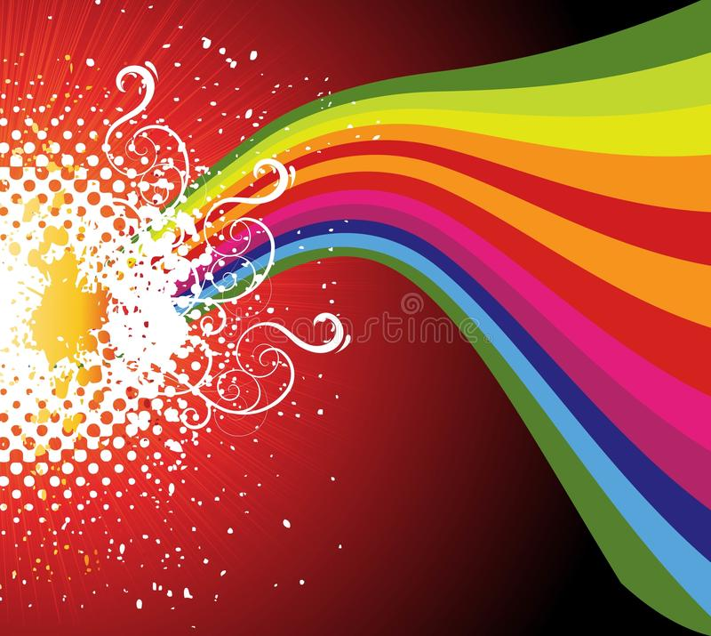 Abstract color creative design wave stock illustration