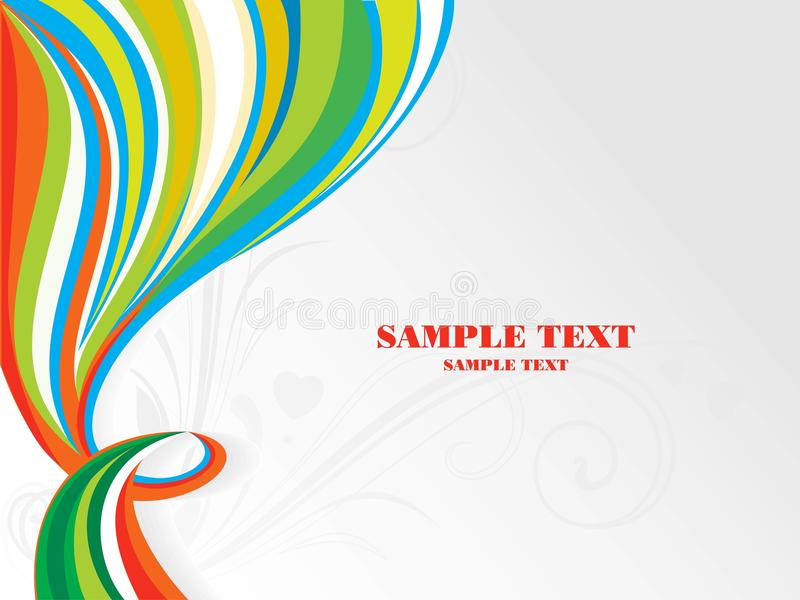 Abstract color design stock illustration
