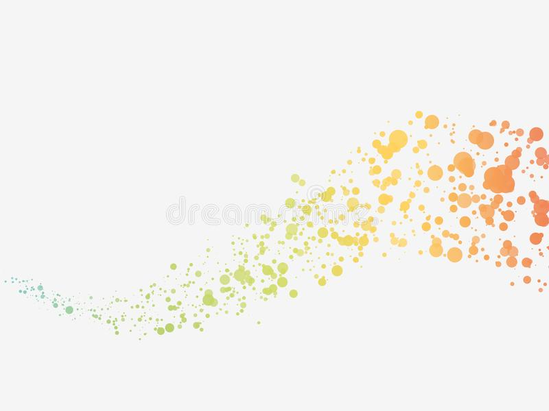 Abstract color dots wave background. Modern style stock illustration