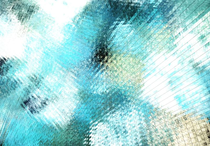 Abstract color dynamic background with lighting effect. Fractal art royalty free illustration