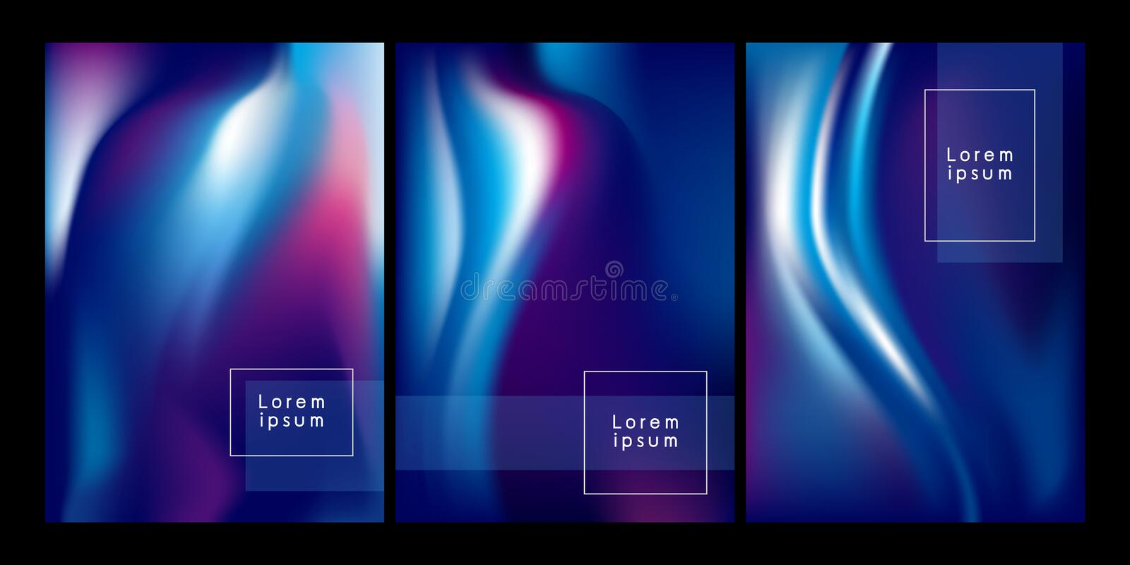Abstract color flow background vector illustration. For design work royalty free illustration