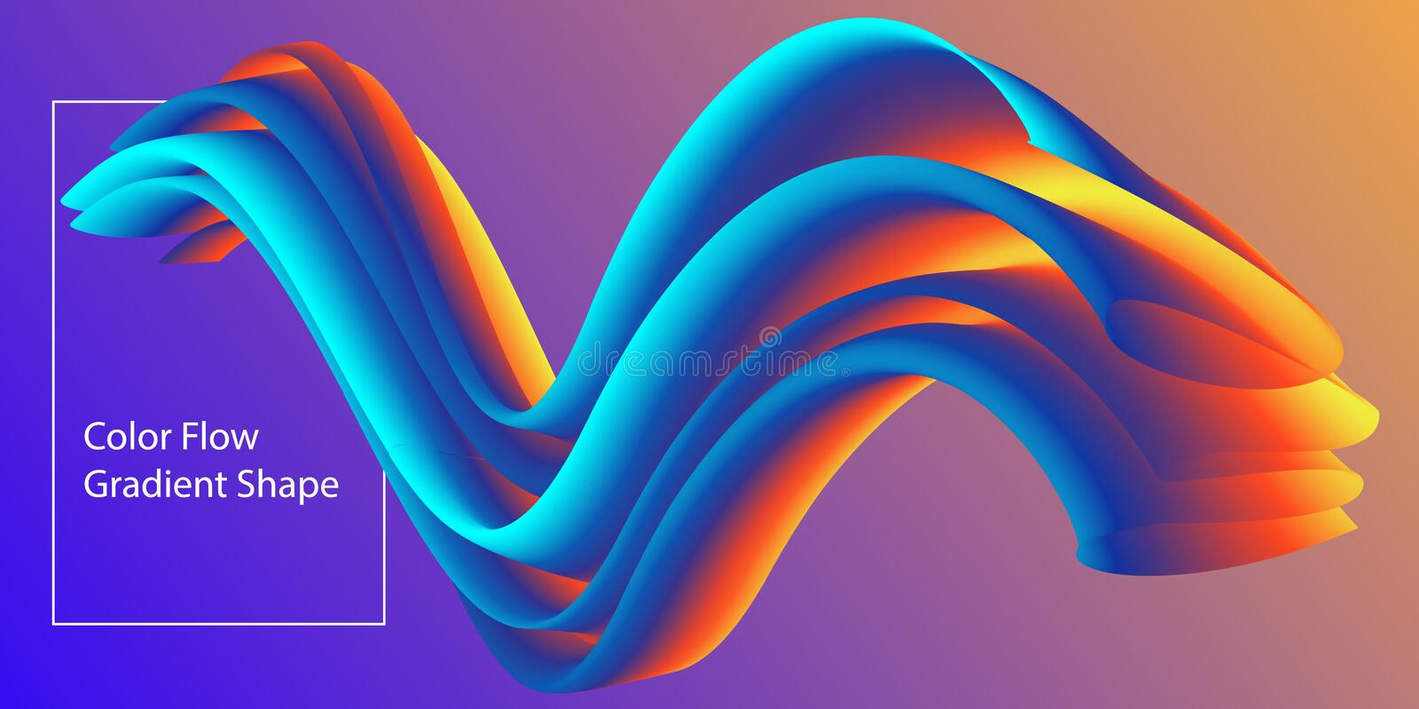Abstract Color flow shape template, Liquid colorful gradient background. Vector Illustration.  royalty free illustration