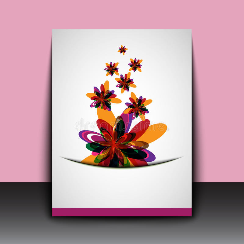 Abstract color flowers art background royalty free illustration