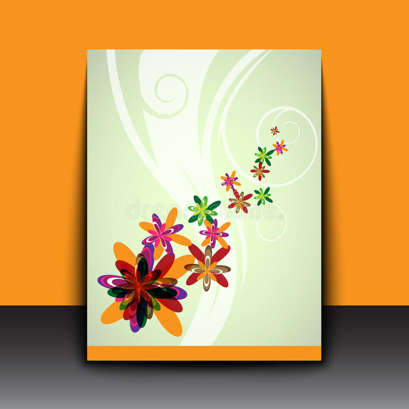 Abstract color flowers art background stock illustration