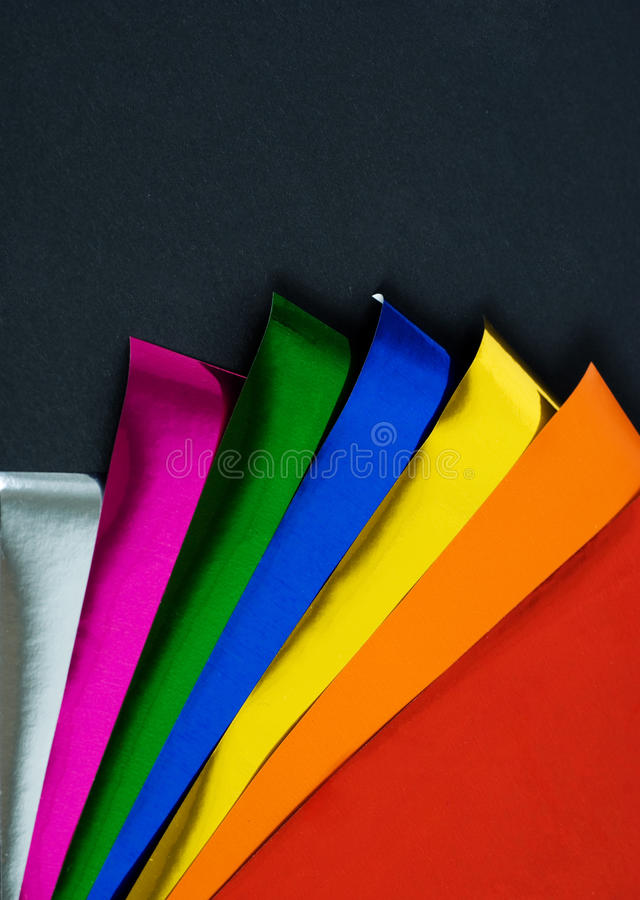 Abstract color foil royalty free stock photo