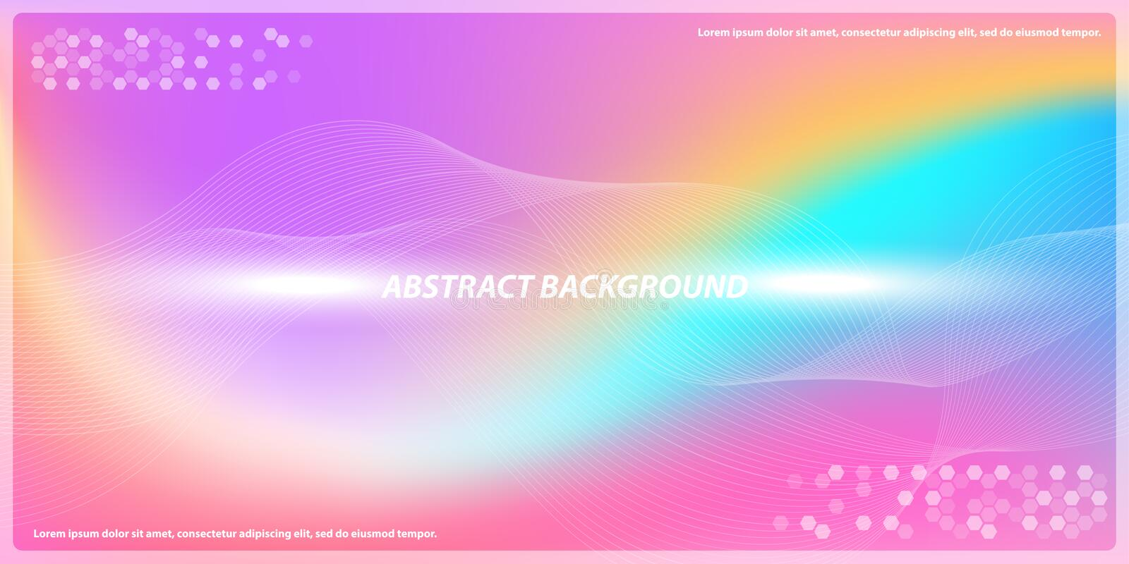 Abstract color gadient lines with colorful background royalty free illustration