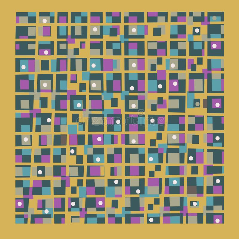 Abstract color geometric background royalty free illustration