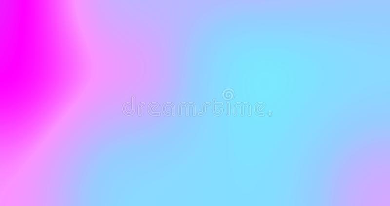 Abstract color gradient background, iridescent light, chromatic pink and blue neon light flow. Modern trend simple fluid color vector illustration
