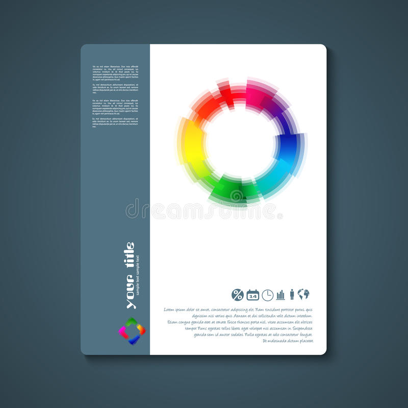 Abstract color icon. stock illustration