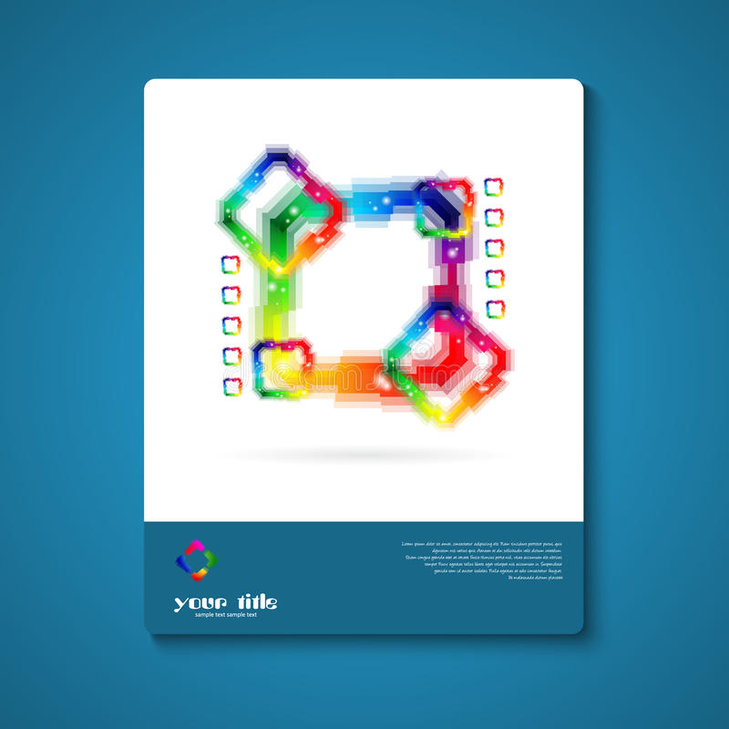 Abstract color icon. vector illustration