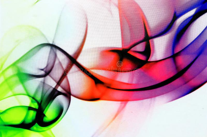 Swirls Of Color On White royalty free stock photo