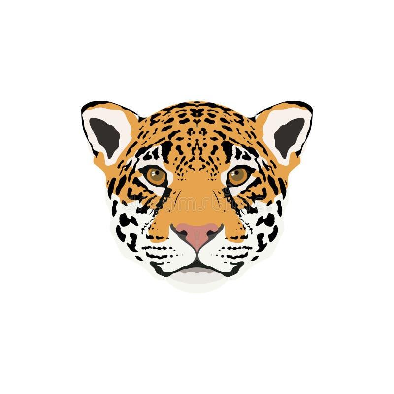 Abstract color jaguar head. stock illustration