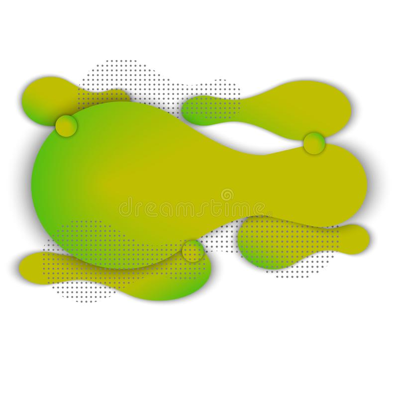Abstract color liquid shape. Fluid gradient background royalty free illustration