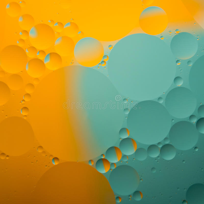 Abstract color oil drops. Abstract color round oil drops on water surface royalty free illustration
