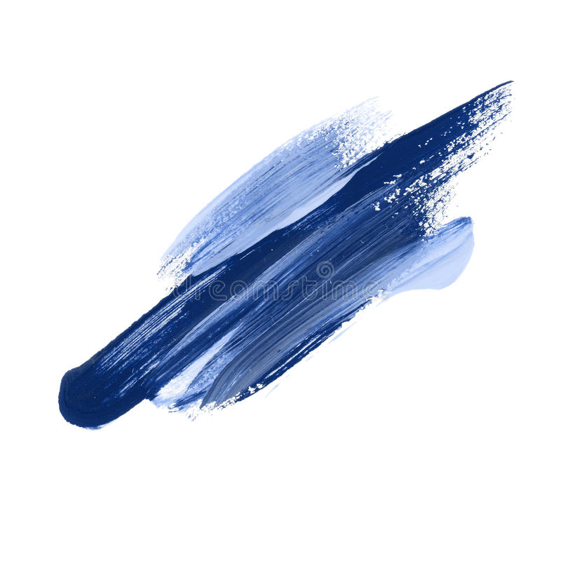 Abstract color paint stroke. vector illustration