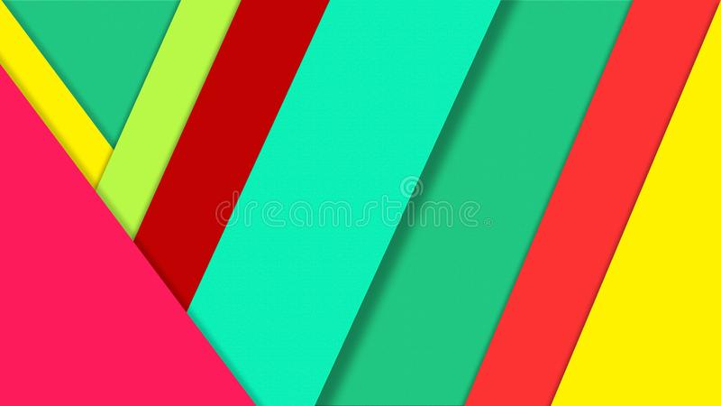 Abstract Color Papers Texture for Geometric Background. Abstract image of green, red and yellow papers for geometric background, wallpaper, business card, poster royalty free illustration