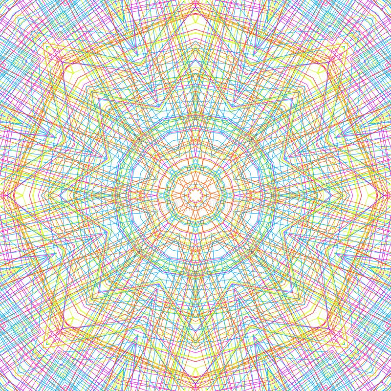 Abstract color pattern. Abstract background with color concentric pattern stock illustration