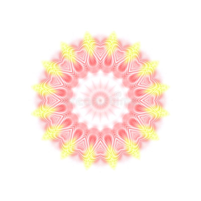 Abstract color pattern. Abstract color concentric pattern on white background royalty free illustration