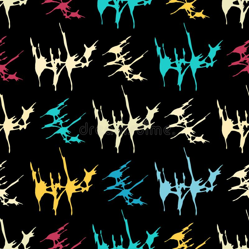 Abstract color pattern in graffiti style. Quality vector illustration for your design. Quality vector illustration for your design stock illustration