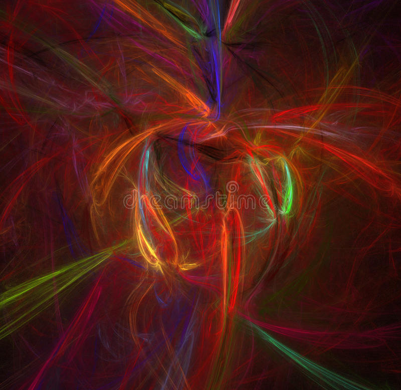 Abstract color pattern of motion neon lights stock illustration