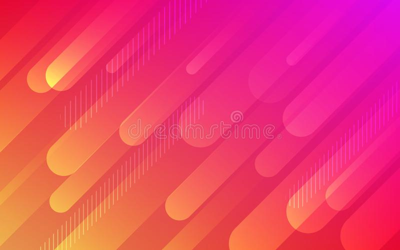 Abstract fluid red orange pattern vector background stock illustration