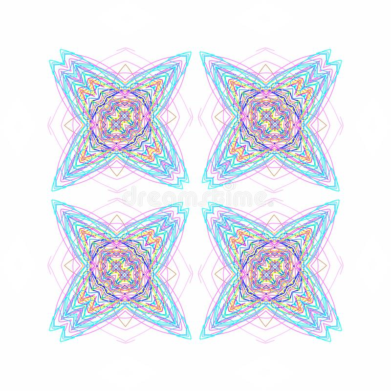 Abstract color pattern shapes. On white background royalty free illustration