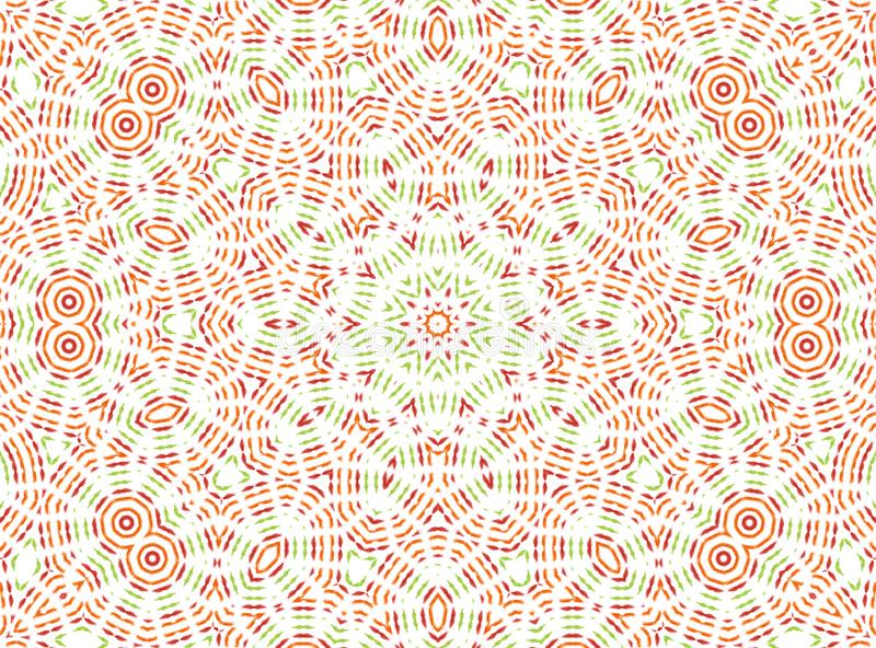 Abstract color pattern. White background with color abstract pattern stock illustration