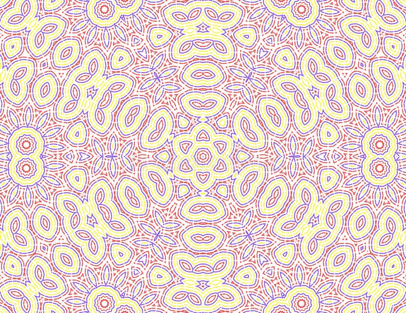 Abstract color pattern. White background with abstract concentric color pattern vector illustration