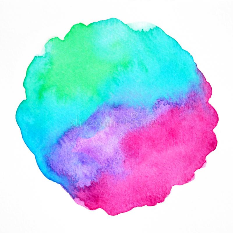 Abstract color power spiritual art watercolor painting illustration hand drawing background royalty free stock image