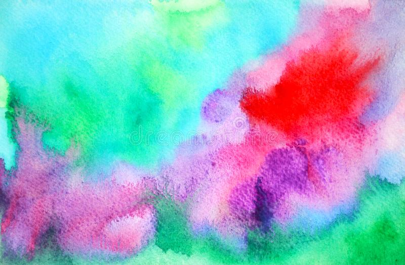 Abstract color power spiritual art watercolor painting illustration hand drawing design background royalty free stock image