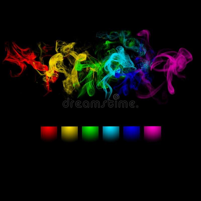 Abstract color smoke design royalty free stock image